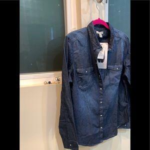 Calvin Klein Jeans Denim Rinse Button Down